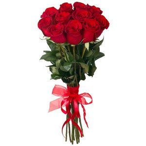 Красная роза 11 шт