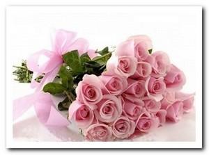 Розовая роза 21шт