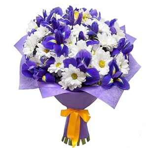 Букет с хризантемы