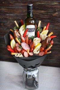 композиция овощи+колбасные изделия+виски