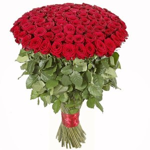 букет из красной розы 101 шт